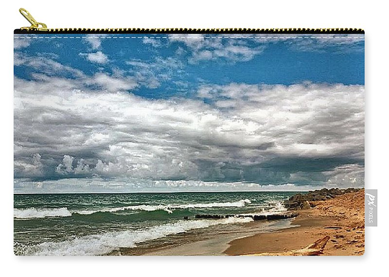 Carry-all Pouch featuring the photograph Beach by Photo Crane