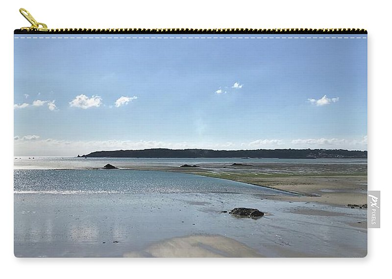 Beach Carry-all Pouch featuring the photograph Beach Scene On A Sunny September Afternoon by Peta Jane Photographs