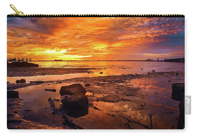 Sunset Carry-all Pouch featuring the photograph Beaming by Ashleena Valene Taylor