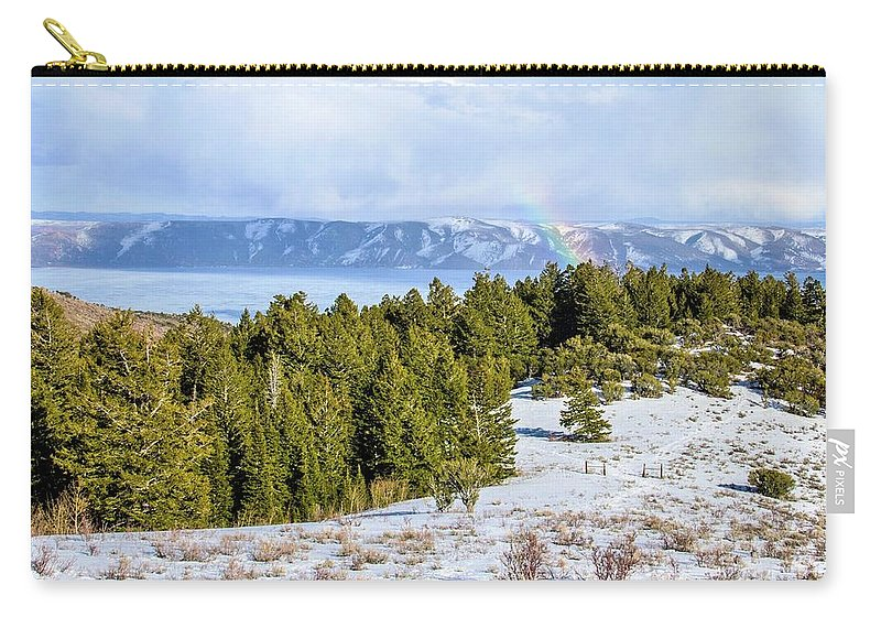Tranquility Carry-all Pouch featuring the photograph Bear Lake Scenic Byway by ©anitaburke