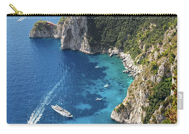 Scenics Carry-all Pouch featuring the photograph Beautiful Capris Sea by Pierpaolo Paldino
