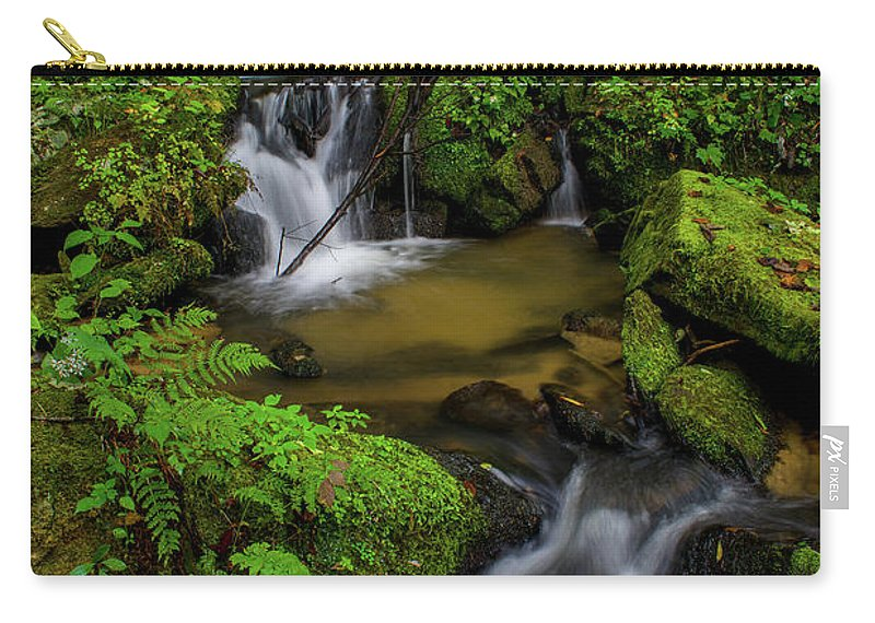 Lee Falls Carry-all Pouch featuring the photograph Beautiful Cascades Of Lee Falls by Robert J Wagner
