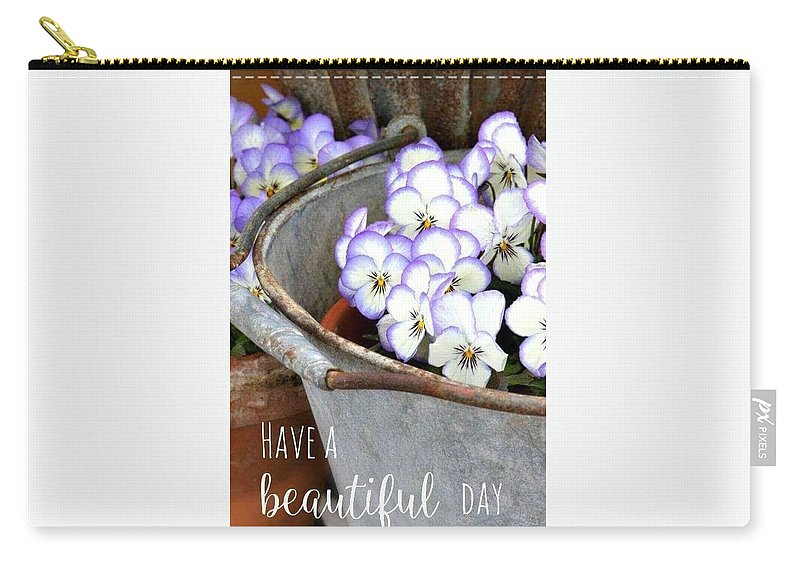 Carry-all Pouch featuring the photograph Beautiful Day by Nimu Bajaj and Seema Devjani