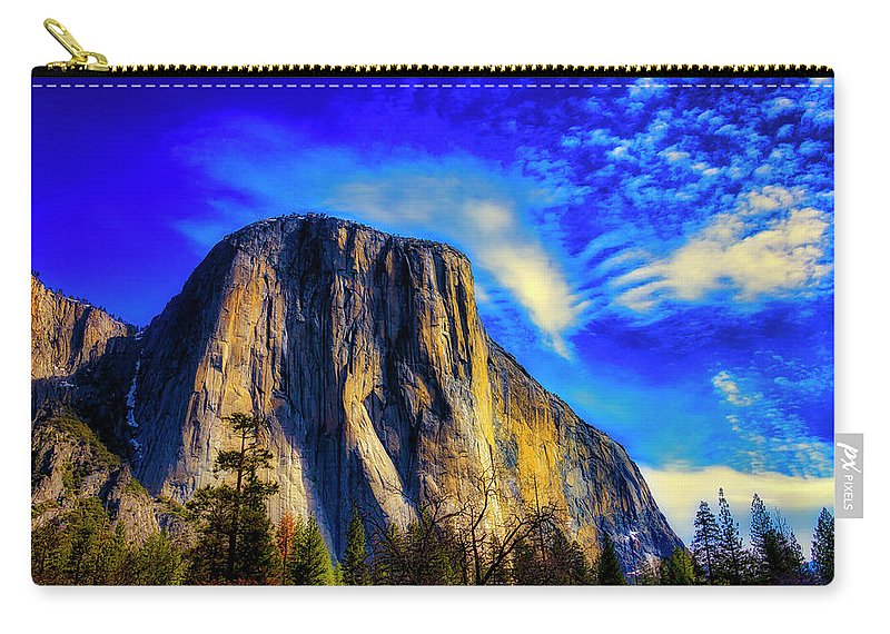 Beautiful El Capitan Carry-all Pouch featuring the photograph Beautiful El Capitan by Garry Gay