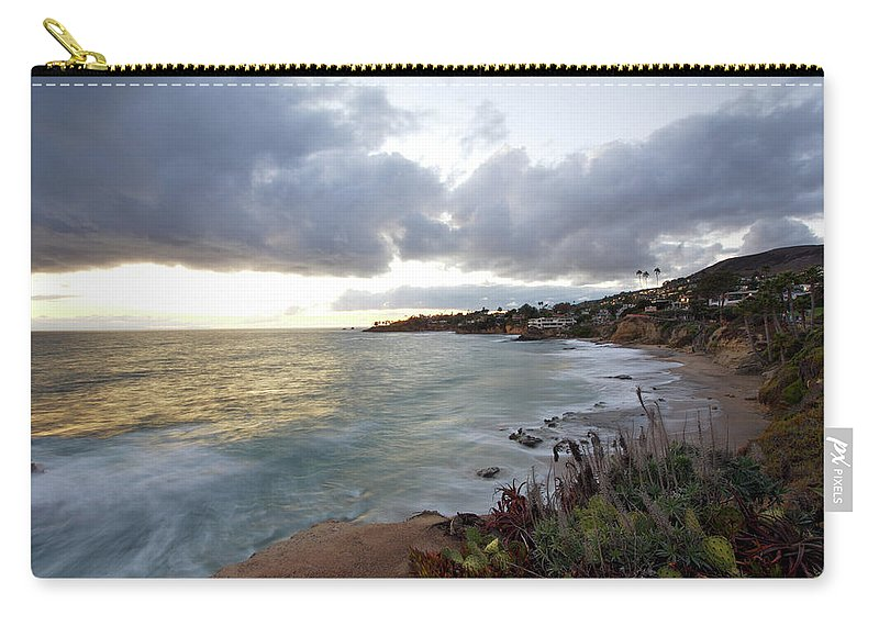 Laguna Beach Carry-all Pouch featuring the photograph Beautiful Laguna Coast After Sunset by Ekash