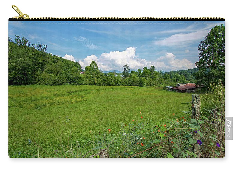 Creek Carry-all Pouch featuring the photograph Beautiful North Carolina Day by Robert J Wagner