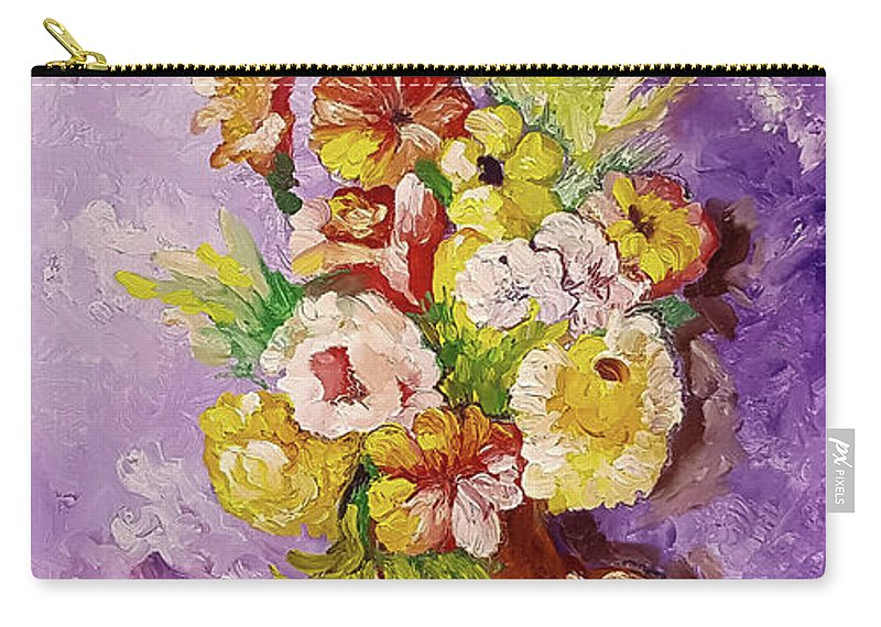 Still Life Carry-all Pouch featuring the painting Beauty On Bouquet by Charles Boyd