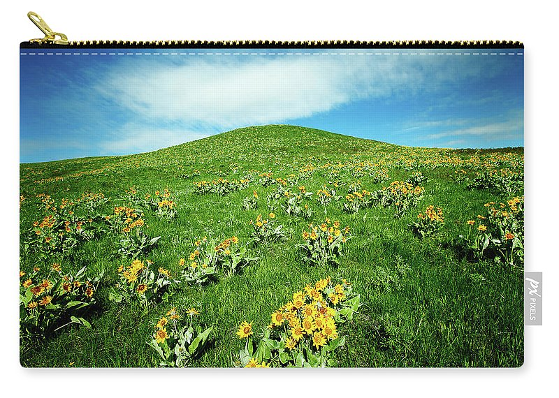 Yellow Carry-all Pouch featuring the photograph Beaver Creek Flowers by Todd Klassy
