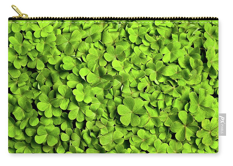 Leaf Carry-all Pouch featuring the photograph Bed Of Clover by Kledge
