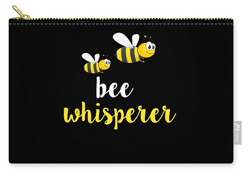 Apiary Carry-all Pouch featuring the digital art Bee Whisperer by Funny4You