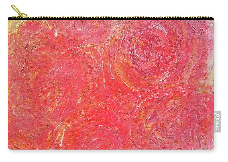 Roses Carry-all Pouch featuring the painting Beefy Roses by Karen Szybalski