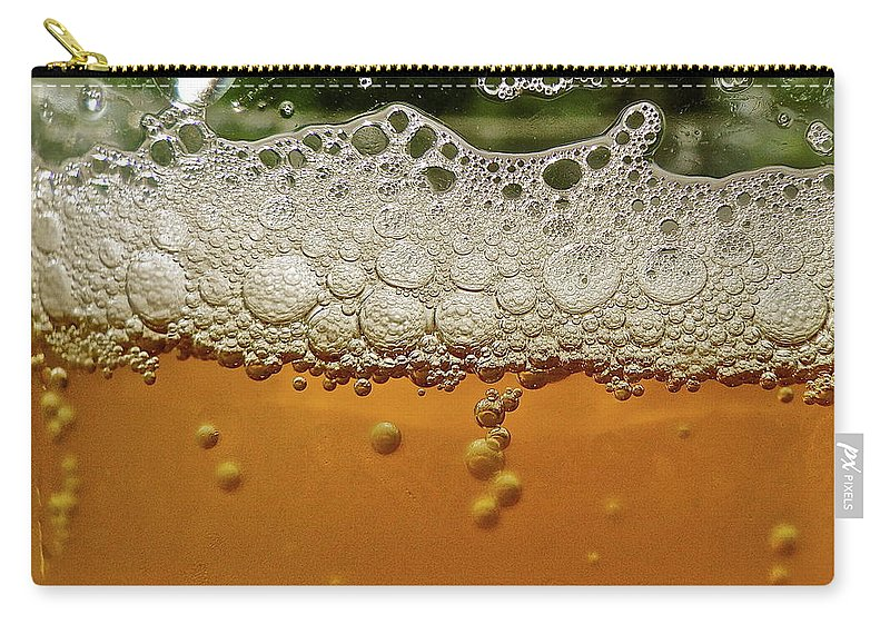 Alcohol Carry-all Pouch featuring the photograph Beer Foam by Lynn.h.armstrong Photography