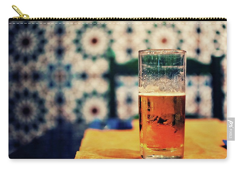 Madrid Carry-all Pouch featuring the photograph Beer On Table by By Carlos Cossio