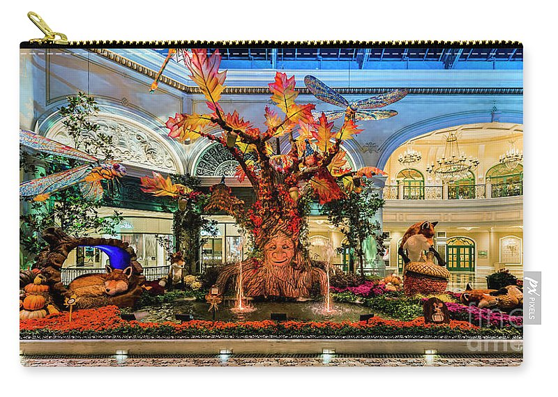 Bellagio Conservatory Carry-all Pouch featuring the photograph Bellagio Enchanted Talking Tree Ultra Wide 2018 2 To 1 Aspect Ratio by Aloha Art