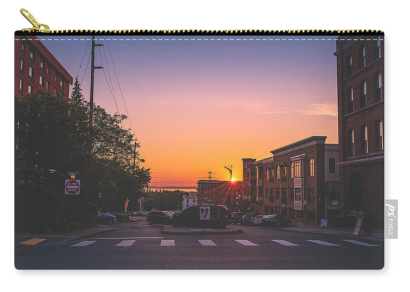 Travel Carry-all Pouch featuring the photograph Bellingham Sunset by Andrew Bridwell
