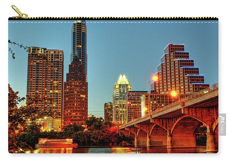 Arch Carry-all Pouch featuring the photograph Below Congress Avenue Bridge by David Hensley