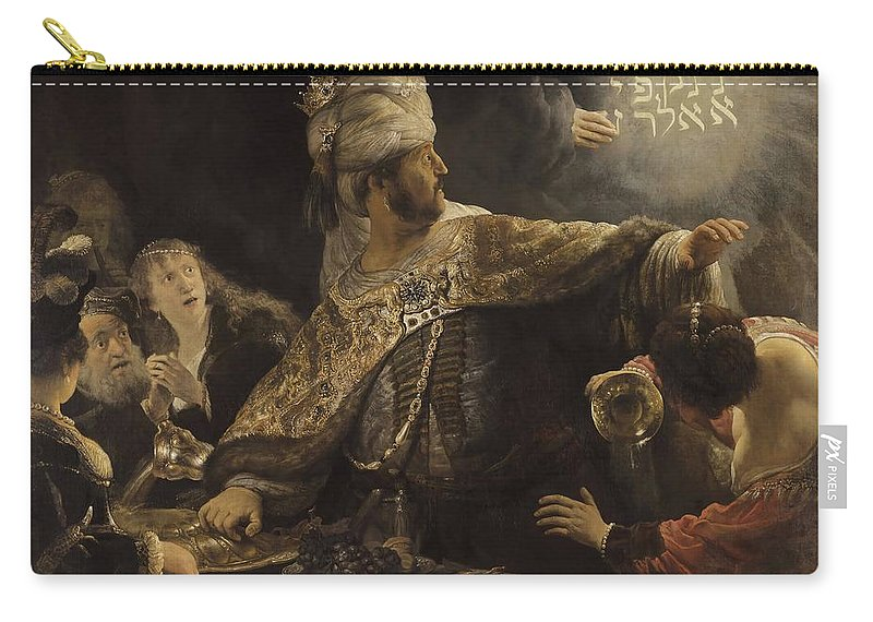 Rembrandt Carry-all Pouch featuring the painting Belshazzar S Feast by Rembrandt