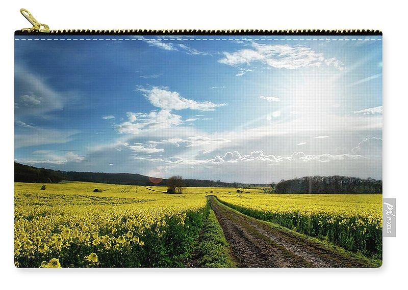 Tranquility Carry-all Pouch featuring the photograph Belvoir Fields by Petertowle