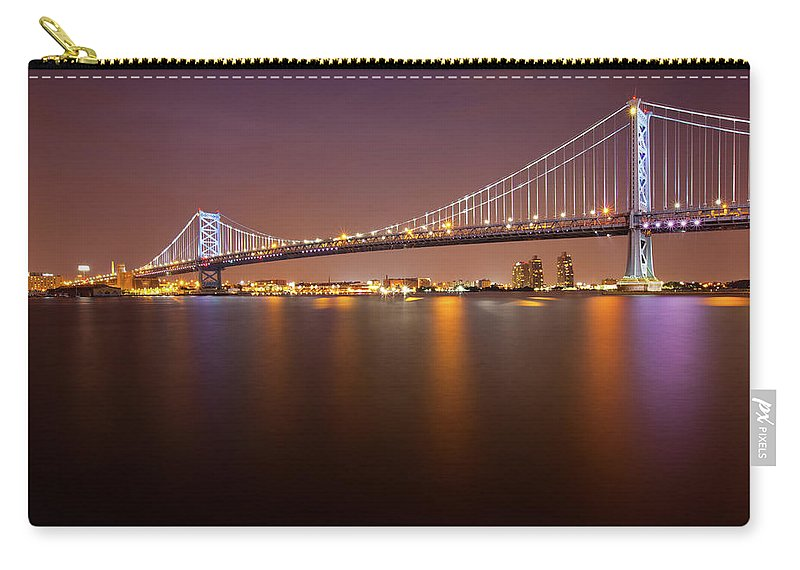 Built Structure Carry-all Pouch featuring the photograph Ben Franklin Bridge by Richard Williams Photography