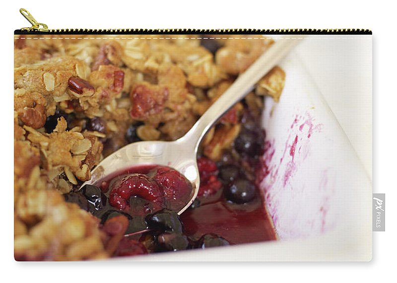 Temptation Carry-all Pouch featuring the photograph Berry Crumble by James Baigrie