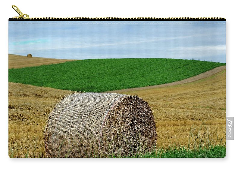 Tranquility Carry-all Pouch featuring the photograph Biei...patchwork Road by By Alan Tsai