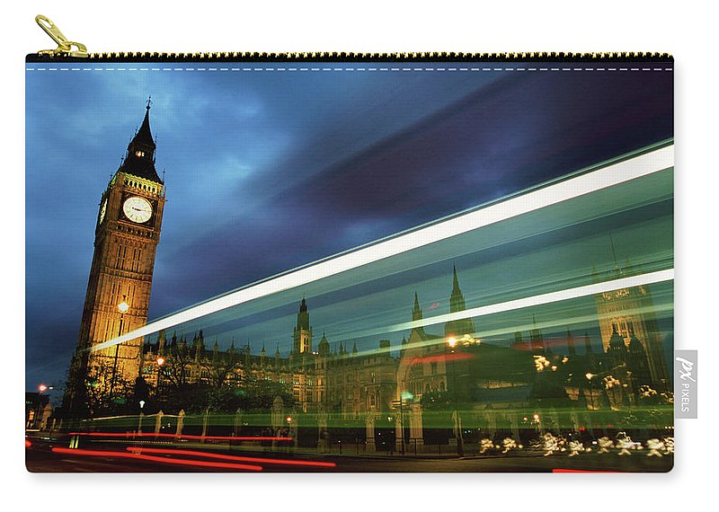 Gothic Style Carry-all Pouch featuring the photograph Big Ben And The Houses Of Parliament by Allan Baxter