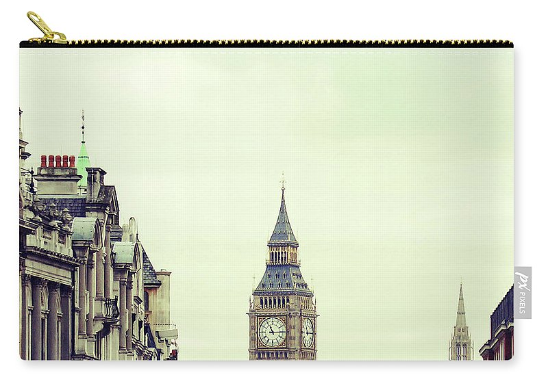 Clock Tower Carry-all Pouch featuring the photograph Big Ben As Seen From Trafalgar Square by Image - Natasha Maiolo