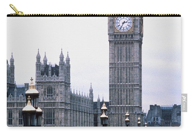 Clock Tower Carry-all Pouch featuring the photograph Big Ben In London by Dick Luria