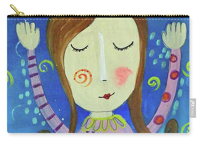 Big Girl Carry-all Pouch featuring the mixed media Big Girl Panties by Carla Seaton