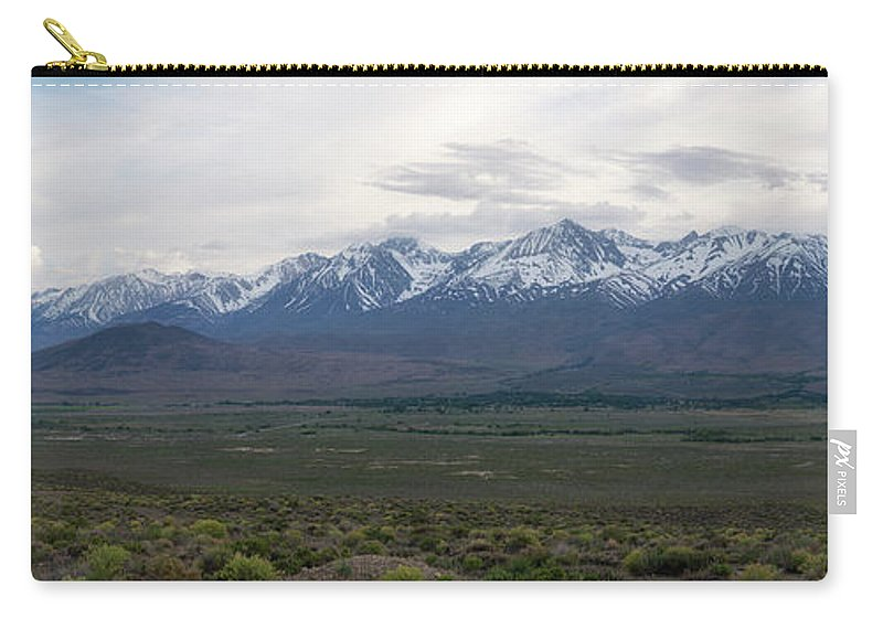 Owens Valley Carry-all Pouch featuring the photograph Big Pine California Overlook by Michael Ver Sprill