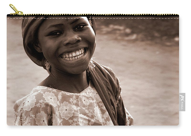 Child Carry-all Pouch featuring the photograph Big Smile by Peeterv