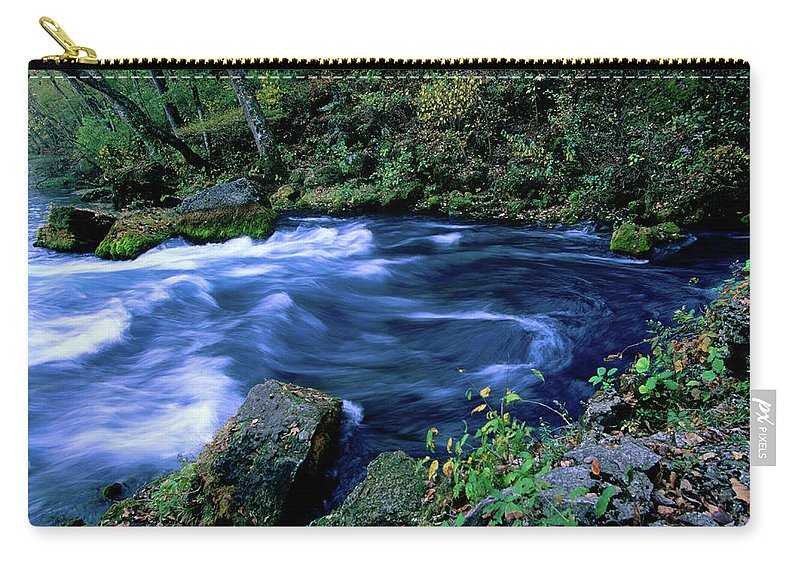 Scenics Carry-all Pouch featuring the photograph Big Spring, Ozarks National Scenic by John Elk Iii