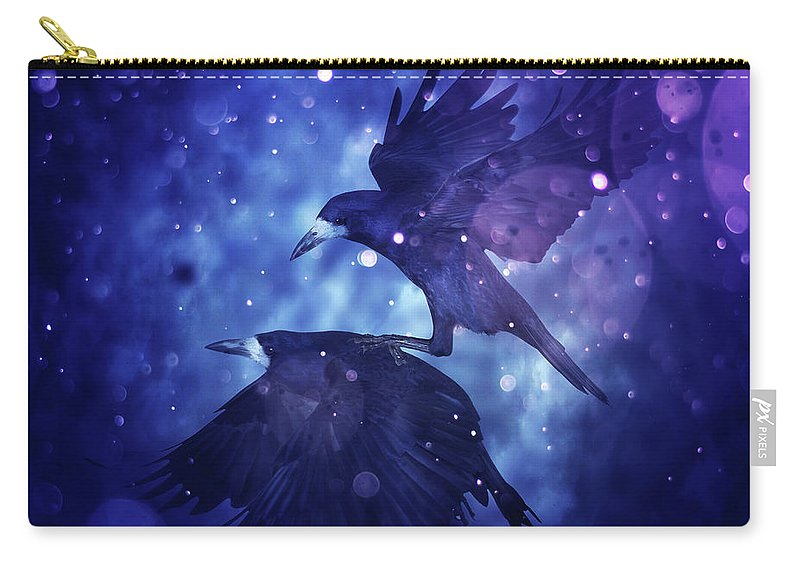 Bird Carry-all Pouch featuring the digital art Bird Kingdom 3 by Johan Lilja