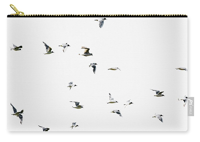 England Carry-all Pouch featuring the photograph Birds In Flight by Magnusson, Roine
