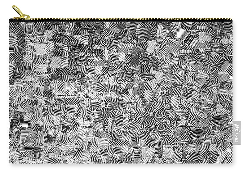 Digital Carry-all Pouch featuring the digital art Black Outed by Jason Ly