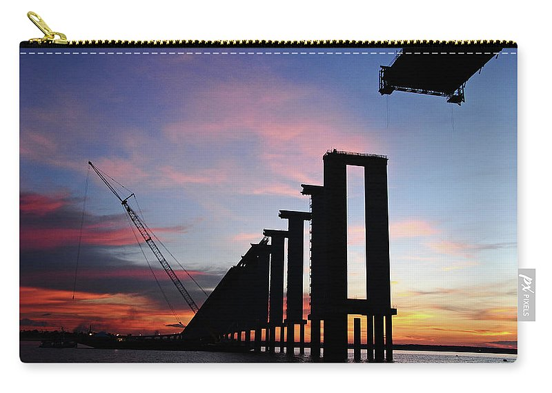 Tranquility Carry-all Pouch featuring the photograph Black River Bridge by Fabionutti
