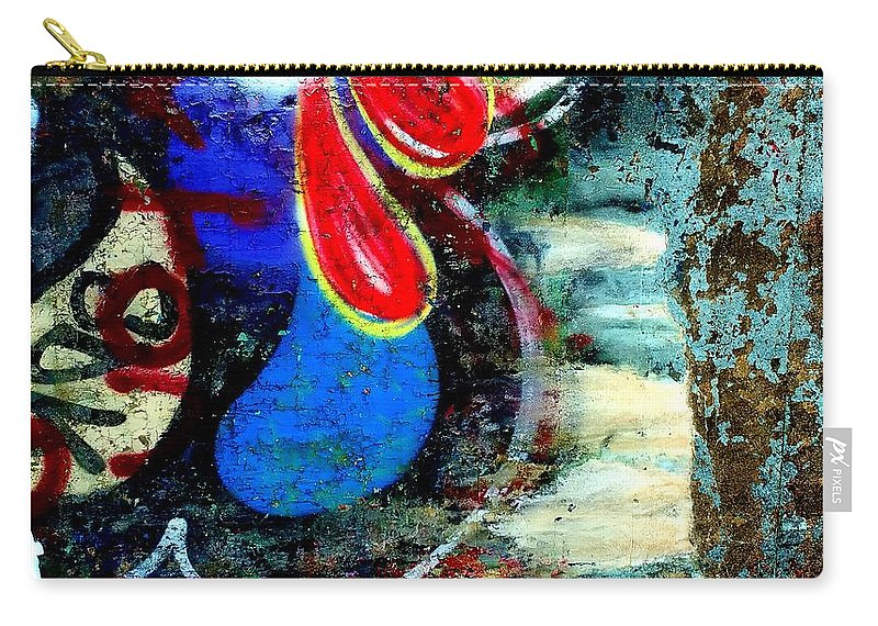 Chipped Paint Carry-all Pouch featuring the digital art Bloop by Mykul Anjelo