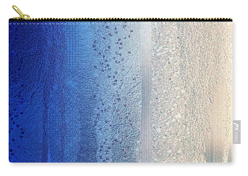 Blue Carry-all Pouch featuring the digital art Blue And Silver by J Richey
