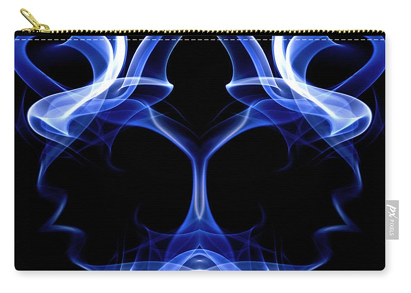 Art Carry-all Pouch featuring the digital art Blue Ghostly Headgear by David Crausby