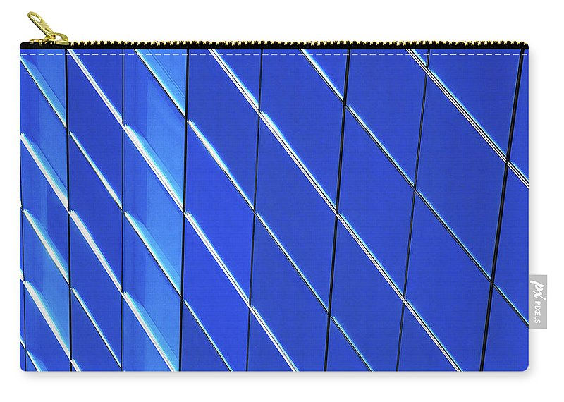 Outdoors Carry-all Pouch featuring the photograph Blue Glass Modern Building by Joelle Icard