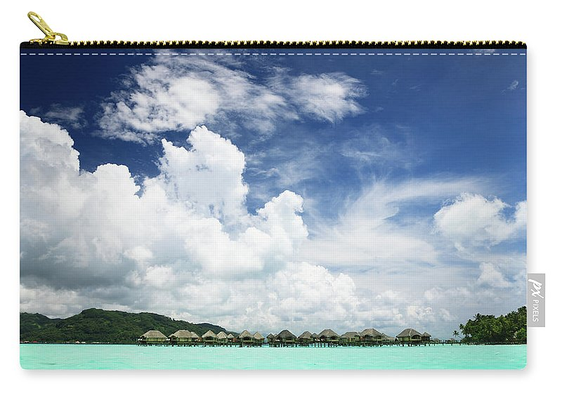 Standing Water Carry-all Pouch featuring the photograph Blue Lagoon Holiday Luxury Resort by Mlenny
