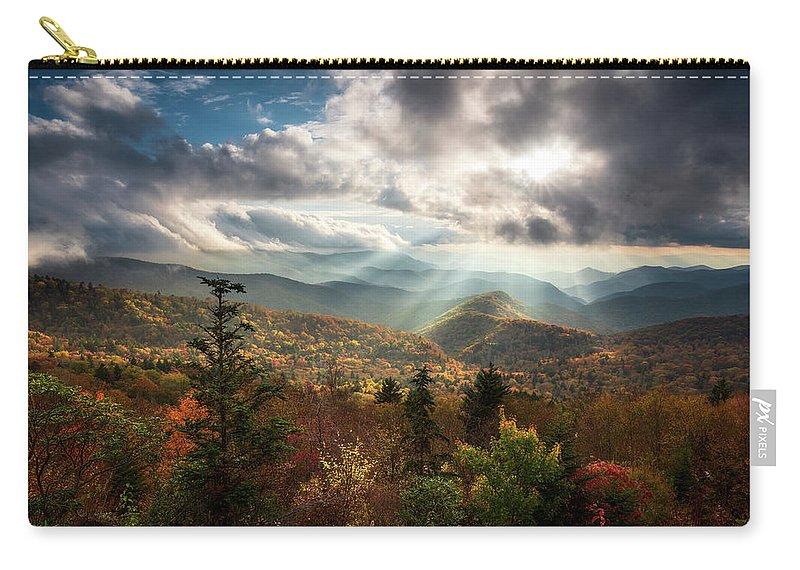 Blue Ridge Mountains Asheville Nc Scenic Autumn Landscape Photography Carry All Pouch