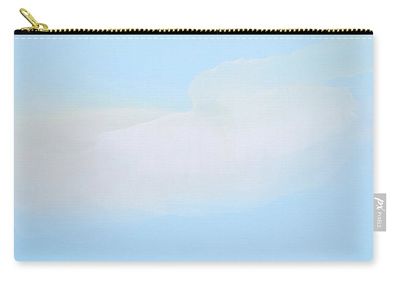 Abstract Carry-all Pouch featuring the painting Blue Skies Ahead by Claire Desjardins