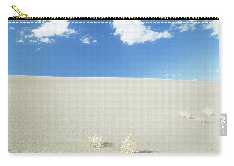 Sand Dune Carry-all Pouch featuring the photograph Blue Sky Over Sand Dune by Bryan Mullennix