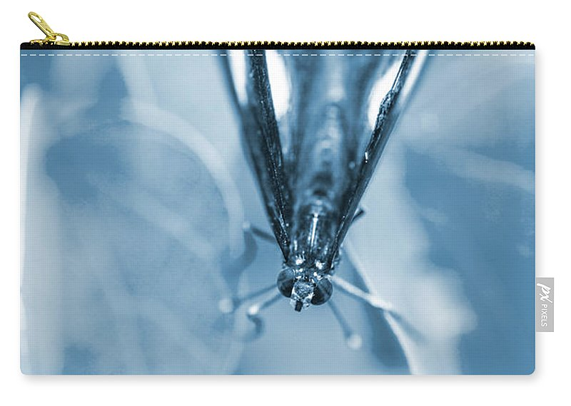 Blue Carry-all Pouch featuring the photograph Blue Spring by Jorgo Photography - Wall Art Gallery