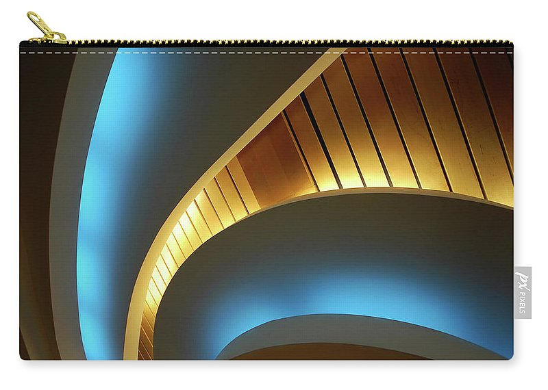 Curve Carry-all Pouch featuring the photograph Blue Swirl by Copyright Ralph Grunewald
