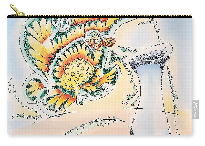 Blue Carry-all Pouch featuring the painting Blue Vase by Dave Martsolf