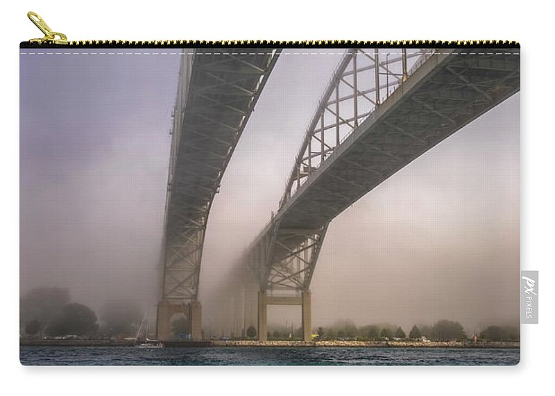Usa Carry-all Pouch featuring the photograph Blue Water Bridge Fog by LeeAnn McLaneGoetz McLaneGoetzStudioLLCcom