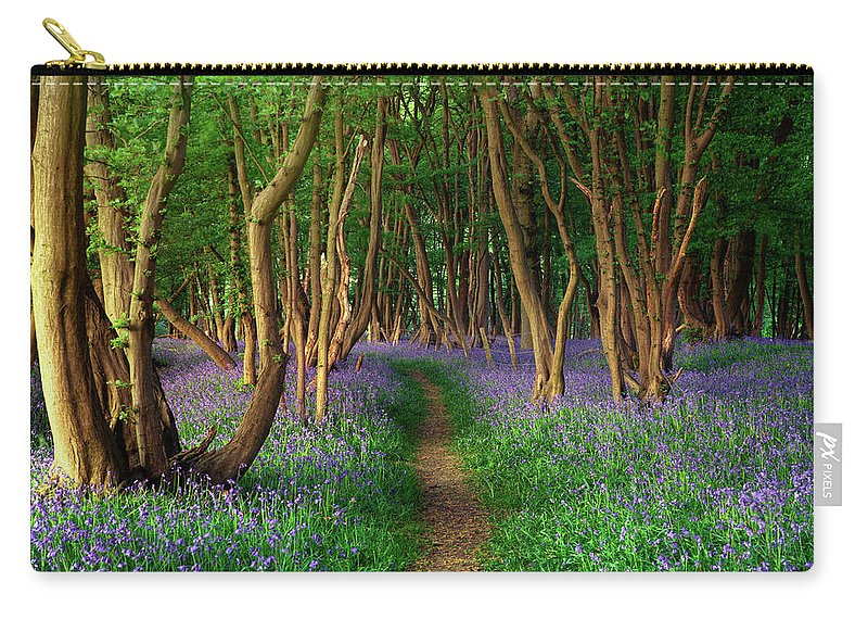 Tranquility Carry-all Pouch featuring the photograph Bluebells In Sussex by Photography By Sam C Moore