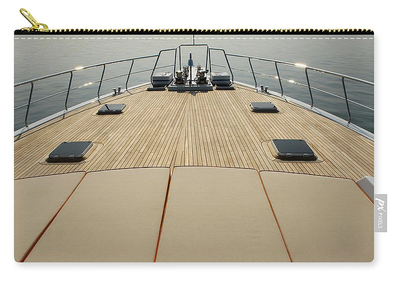 Seascape Carry-all Pouch featuring the photograph Boat Deck by 1001nights